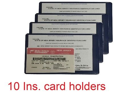 Ten  10  Auto Car Truck Insurance Registration Id Card Case Wallet Holder