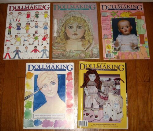 DOLLMAKING MAGAZINES Projects and Plans Lot of 5