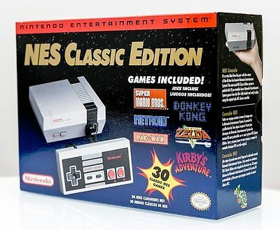 NES Classic Print run Mini Console Nintendo - NEW & Bubble Wrapped - Fast Shipping