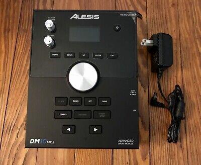 Alesis DM10 MKII Drum Module w/Snake Cable Studio Electronic Drum Kit Brain
