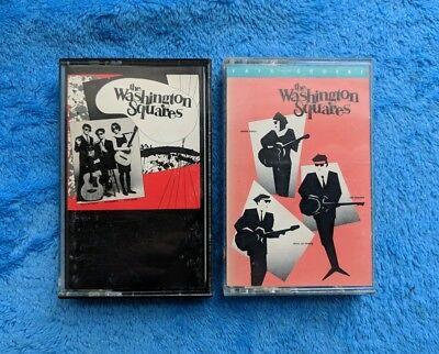 THE WASHINGTON SQUARES 2 Cassette Tape Lot Folk Rock Neo Beatnik Fair And Square