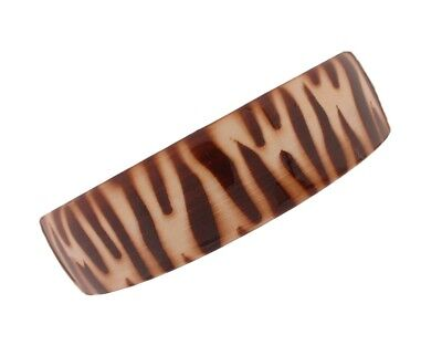 Caravan What A Wide Head Band In Mustard And Brown Zebra Hand Painting (Zebra Head Band)