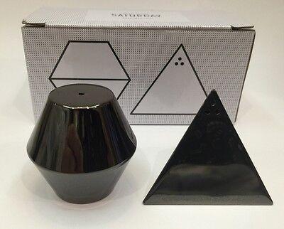 Kate Spade Saturday Marcasite Metallic Geometric Mini Salt And Pepper Shakers
