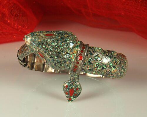 STERLING ENAMEL SNAKE Bracelet MARGOT de TAXCO MOLD #5554 Melesio Rodriguez Fab!