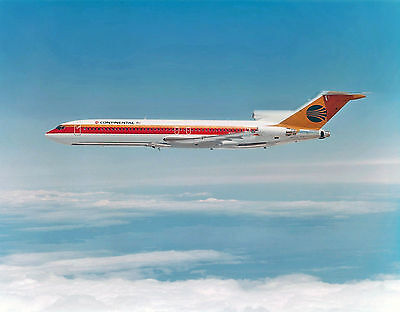 """Continental Airlines Boeing 727-200 ((8""""x10"""")) Print"""