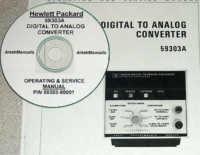 Hp 59303a Digital To Analog Converter Operating Service Manual