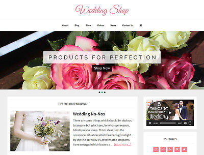 New Design    Wedding Store   Niche Blog Website Business For Sale Auto Content