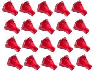 Lego Translucent Red Diamond Gems Jewels 20 pieces NEW!!!