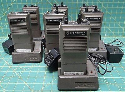 Lot Of 7 Motorola Ht600 Handie-talkie Two-way Radios No Antennas 6 Channels