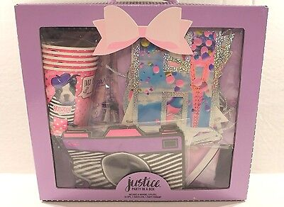 Justice Girls Birthday Party In A Box Paris Theme Set for 5 Plates Cups Napkins - Themes For A Girl Birthday Party