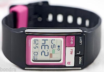 Casio LDF52-1A Ladies PopTone Black Watch Alarm Chronograph Fashion Sports New