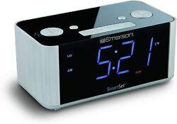 CKS1708 SmartSet Alarm Clock Radio, USB port for iPhone/iPad/iPod/Android and
