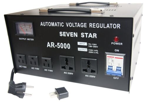 Seven Star AR-5000 Watt Step Up-Down Transformer Voltage Converter Stabilizer