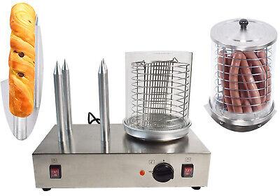 110v Hot Dog Warmer Sausage Grilling Machine Bread Toaster Machine Bun Warmer
