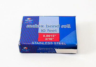 Dental Matrix Band Rolls 316 Approximately 5mm Stainless Steel Dental Emporium