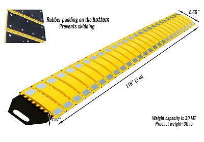 Rk Safety Rk-psh10 Pu Portable Folding Traffic Control Calming Speed Bump 10 L