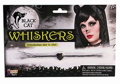 Sexy Black Cat Whiskers Costume Accessory 78371](Cat Whiskers Costume)