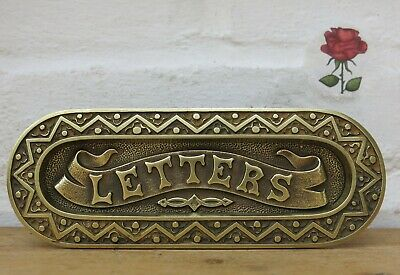 REFURBISHED Vintage Small BRASS Gravity Letter Box (READY TO FIT)