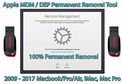 MDM/DEP Removal Tool For Apple MacBook Pro/Air, iMac 21/27, MacPro 2009-2017 USB