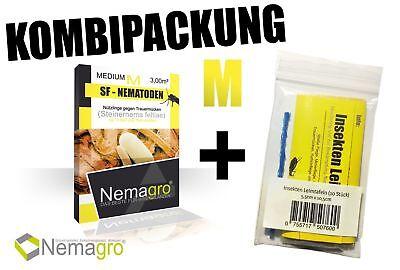 Kombipack Nemagro® SF-Nematoden M + 10 Gelbtafeln - Einfache Anwendung zu Hause