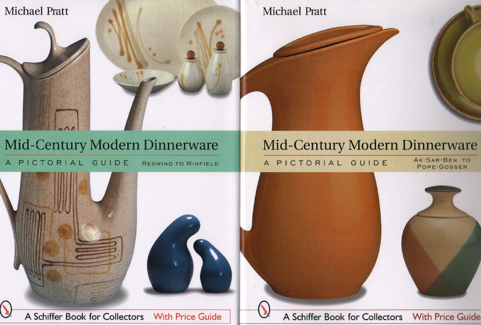 2 Books 1950s Modern Dinnerware Pictorial Guide Ak-Sar-Ben -