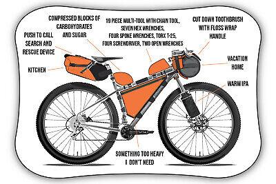 "2/"" CYCLELOGICAL cycle logic USA Bike Ride Run Bicycle Outdoor  STICKER DECAL"