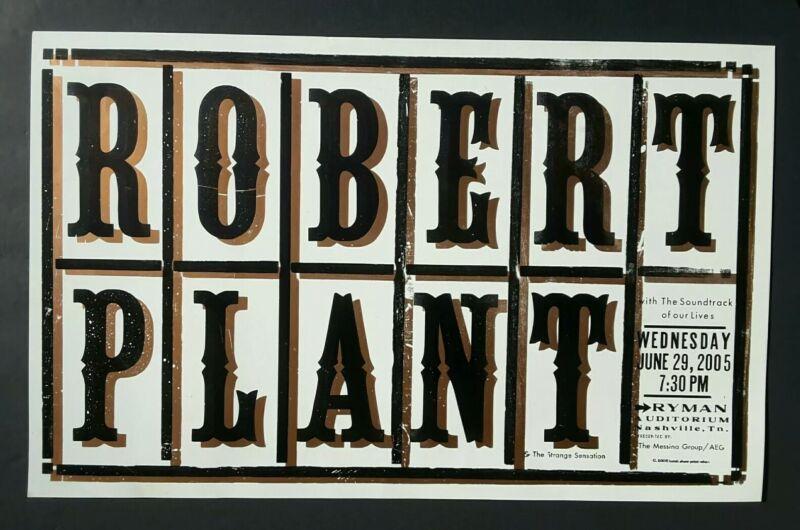 ROBERT PLANT  Hatch Show Print RYMAN Nashville 2005 Concert Poster *Led Zeppelin