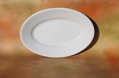 Vintage Restaurant Dinnerware White Oval Plate Made In China