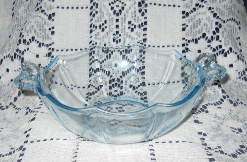 Sale! Vintage Fostoria Elegant Fairfax Blue Bow Knot Handled Dish Whipped Cream