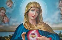 Las Santa María Madre Virgen Gottes Imagen Antiguo Barroco 77x42 Cm Iconos -  - ebay.es