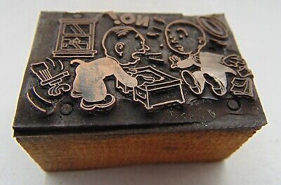 Printing Letterpress Printers Block Angry Man At Desk No