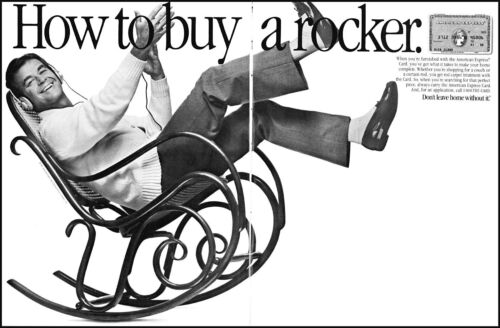 1985 Dick Clark rocking chair American Express card vintage photo Print Ad ads17