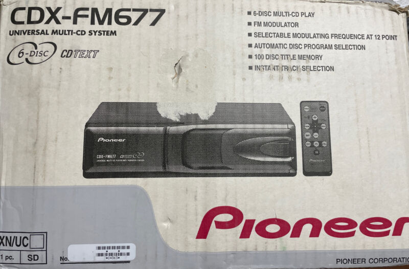 Pioneer CDX-FM677 6 Disc CD System - Never Installed - Open Box