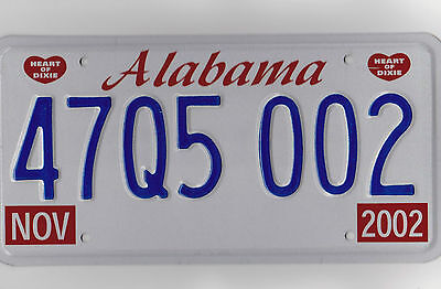 47 Q5 002 = 2002 Madison County Alabama License plate  ** Bar Mancave Art **