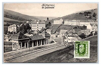 BOHEMIA JACHYMOV RAIL DEPOT 1925 CHARLES BALCAR TO LESTER TWINBULL, DUNDAS, ONT