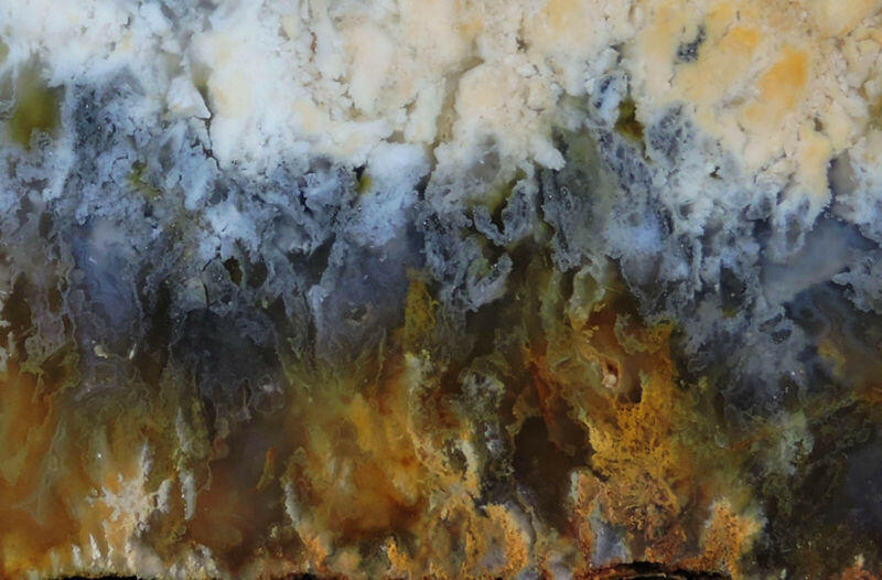 SSNW PINK LADY PLUME AGATE SLAB ~ gorgeous cabbing slice