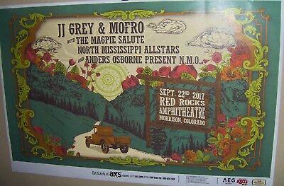 JJ GREY & MOFRO in Concert Show Poster Denver Co RED ROCKS Sep 22nd 2017 COOL