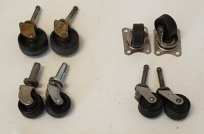 4 Sets Of 2 Vintage Casters