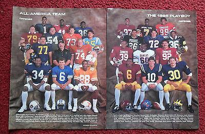 1985 Magazine Photo Page Bo Jackson AUBURN Football All American Team