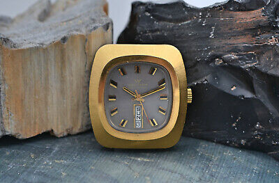 Cool Vintage Waltham Mens Large Automatic Day Date Ref 909-6102 Television Watch
