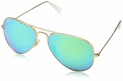 Ray-Ban 3025 Aviator Large Metal Mirrored Non-Polarized Sunglasses, (Ray Ban Aviator Green Mirror Polarized)