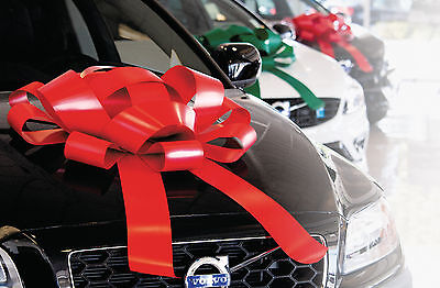 Car Bow (Big Car Bow | Magnetic Back, Vinyl, No Scratch, Many Colors | Large Gift)
