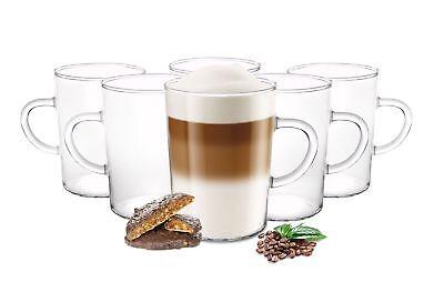 6 tazas de café 220ml con mango borosilicato Taza de té Latte...