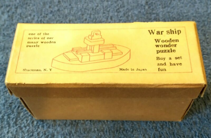 Warship Wooden Wonder Puzzle With Instructions