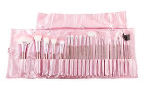 22pc Pink Professional Cosmetic Brush Set Makeup Foundation Eyeshadow Eyeliner