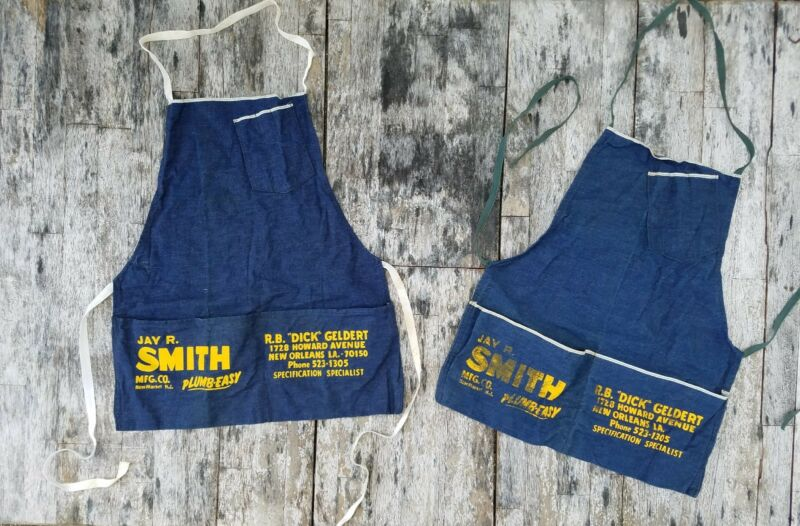 Vintage 1933-1946 selvage Jay R. Smith cotton denim apron New Orleans selvedge