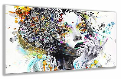 "Large Wall Art Canvas Print Abstract  Paint Girl Flower Framed 20""x30"""
