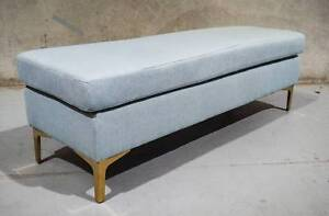 """""""ODETTE"""" GOLD LEGGED OTTOMAN - ONE AVAILABLE Epping Whittlesea Area Preview"""