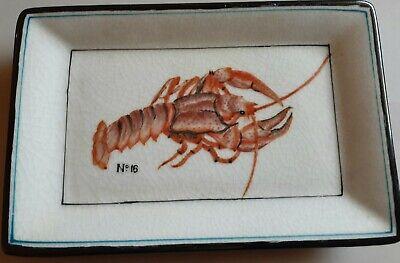 Homart Lobster Porcelain Small Trinket Decorative Tray or Soap Dish