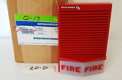 Edwards 896b-001 Fire Alarm Strobe Speaker New In Box 24 Vdc W Flush Trim
